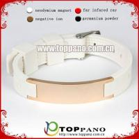 Buy cheap stainless steel silicone health balance bracelet from wholesalers