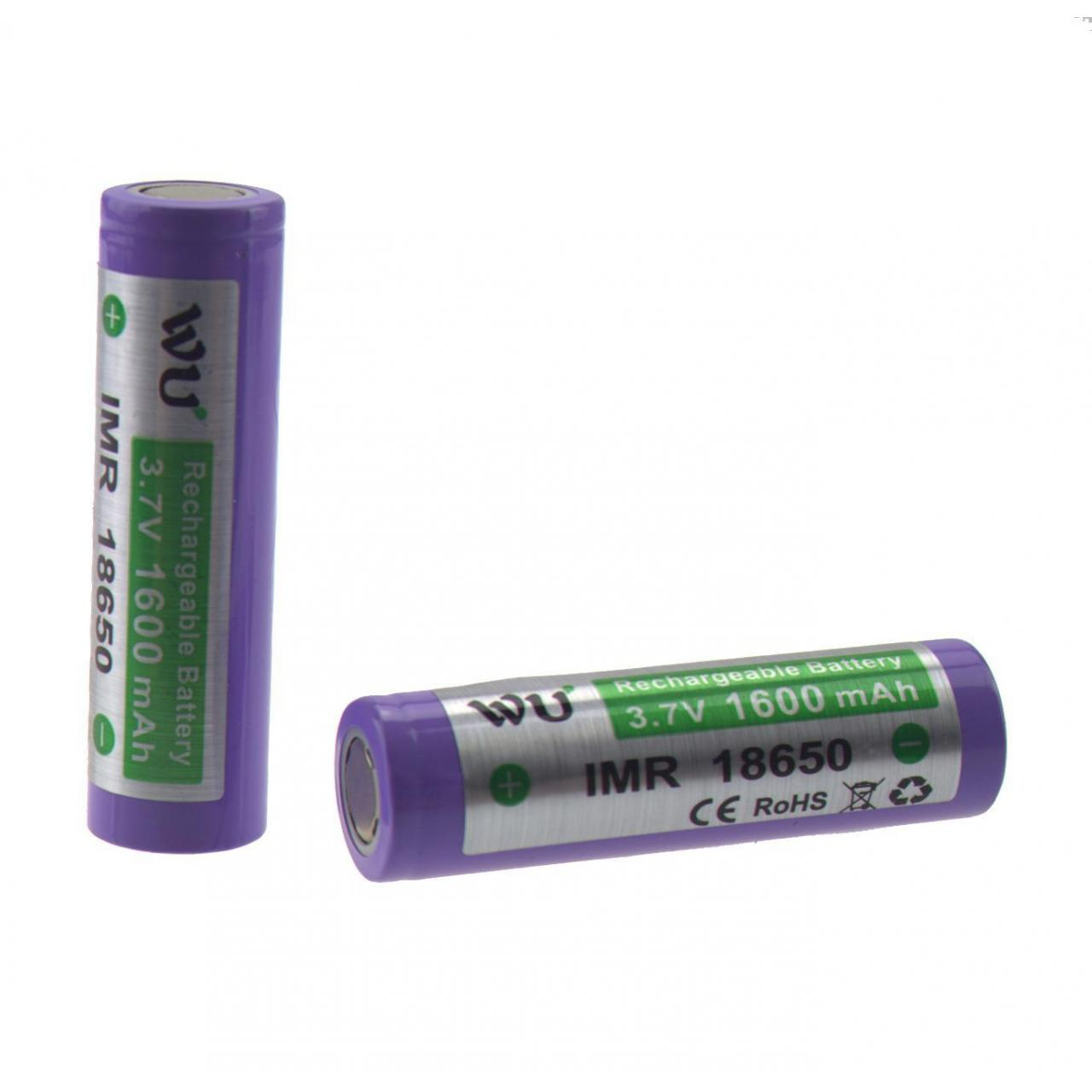 Buy cheap WU IMR High drain 18650 1600mah for LaveTube mods(2pcs) from wholesalers