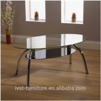 Buy cheap 2014 hot sale oval glass coffee table from wholesalers