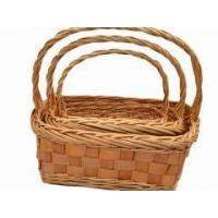 Buy cheap willow storage basket handmade folk arts from wholesalers