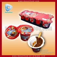 Buy cheap Chocolate cream cup with biscuit stick from wholesalers
