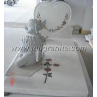 China Henan White marble Tombstone on sale
