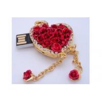 Buy cheap heart shape usb flash drive,jewel necklace usb flash from wholesalers