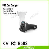 Buy cheap Latest 5.2A 3 USB car charger battery adaptor mobile phone accessory for iphone ipad from wholesalers
