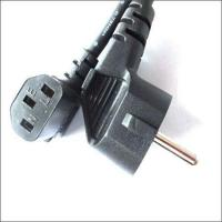 Buy cheap Eu schuko plug to IEC 60320 C5 clover leaf connector|vde power cord|europe schuko plug from wholesalers