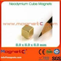 Buy cheap Customized N38 Neodymium Cube Magnet from wholesalers