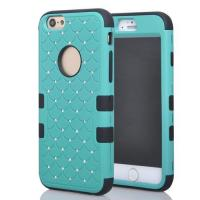 Buy cheap 3 in 1 triple layer silicon+PC Apple iPhone 6 case with starry diamond from wholesalers