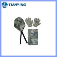 Buy cheap camo print knitted kids hat scarf gloves set from wholesalers