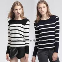 Buy cheap latest smart long sleeves with classic stripes for ladies t shirt design from wholesalers