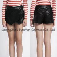 Buy cheap new arrival women smart short genuine leather pants from wholesalers