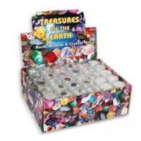 Buy cheap Rock, Mineral & Crystal in small round plastic box, 30 assorted, 120pcs per display. from wholesalers