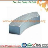 Buy cheap Segment (Arc) Sintered NdFeB with Zn Plating from wholesalers