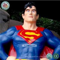 Buy cheap Fiberglass Life Size Superman Sculpture Model from wholesalers
