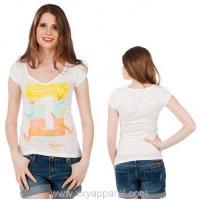 Buy cheap discharge printing T-Shirt Powder White Melange from wholesalers