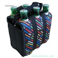 6 pack neoprene beverage beer bottle carrier bag cooler