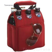 six pack beer bottle tote bag neoprene