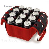 12 pack neoprene beverage cooler tote bag