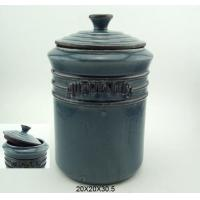 Buy cheap Stoneware Wording Jar,Blue from wholesalers