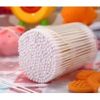Buy cheap 200 Pcs White Paper Stick Super mini Baby Cotton Buds Cotton Swabs Packed in PP can Item No:4007 from wholesalers