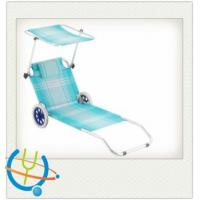 Buy cheap Aluminum Tube beach chair/recliners/Folding chairs with canvas awning from wholesalers