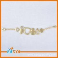 Buy cheap Boy And Girl Friendship Gold Geometry Metal Bracelet from wholesalers