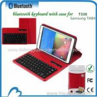 Attractive tablet keyboard bluetooth leather case for Samsung Tab 4 T330
