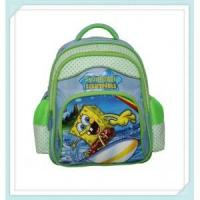 Buy cheap green color girl cute school bag with beautiful shape and painting from wholesalers