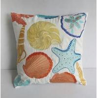 Buy cheap Sea themed pillow in off white with sea creatures embroidery from wholesalers