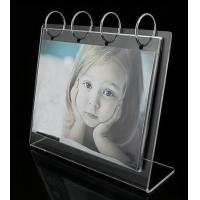 Buy cheap Acrylic Counter Displays Clear L shape acrylic calendar stand from wholesalers