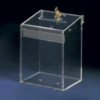 Buy cheap Acrylic Counter Displays Transparent acrylic suggestion box with lock and key from wholesalers