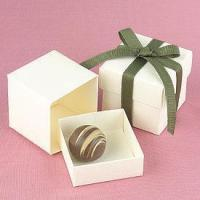 Buy cheap Ivory Favor Boxes - Pkg 25 from wholesalers