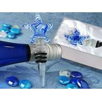 Buy cheap Blue Swirl Glass Starfish Wine Bottle Stopper from wholesalers