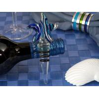 Buy cheap Silver Blue Swirl Glass Starfish Wine Bottle Stopper from wholesalers