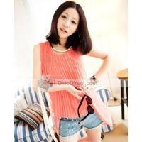 Buy cheap Elegant Front Pleat Asymmetric Round Neck Chiffon Women Blouses from wholesalers