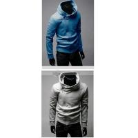 Buy cheap Qooeen Casual Solid Stand Collar Long Sleeves Zippered Cotton Mens Sweatshirt from wholesalers