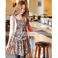 Buy cheap Doclin Stylish Solid Long Sleeve Cotton Women Cardigan and Floral Tube Top Women Dress from wholesalers