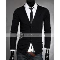 Buy cheap YW Cotton Solid Long Sleeve V Neck Single Breasted Men Cardigan Sweaters from wholesalers