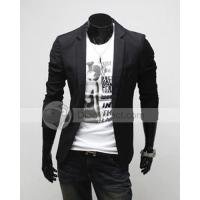Buy cheap Danielboy Solid Slim Cotton Single Button Long Sleeve Lapel Pockets Men Casual Blazer from wholesalers