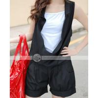 Buy cheap Mingoe Comfortable Overall Sleeveless Women Short Jumpsuits Rompers from wholesalers