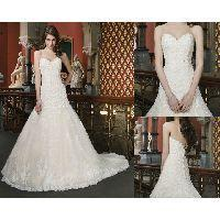 Buy cheap WD-1111 A line wedding gown Beaded and corded lace appliques over a sequined lining from wholesalers