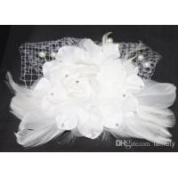 Buy cheap Wholesale - European Style Hand made Bridal Head Flower with Lace, Fleather and Pearl XT-3007 from wholesalers