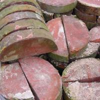 Buy cheap 09. Half Round Coping Bricks - Reclaimed from wholesalers