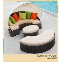 Buy cheap High grade unique rattan outdoor pool sun bed with canopy furniture OMR-H067 from wholesalers