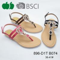 Buy cheap New Style Sexy Lady Beautiful Flat Sandal with Tpr Sole from wholesalers