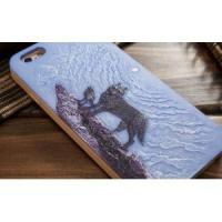 Buy cheap Hand Painting Wolf Pattern Personalized Fitted Case for Iphone 6 / 6s from wholesalers