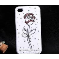 Buy cheap Carved Rhinestone Bling Diamond Flower Rose Case/ cover for iPhone 5 from wholesalers