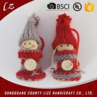 Buy cheap hot sales cute handmade Christmas craft felt decoration santa claus doll supplies from wholesalers