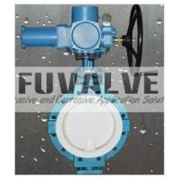 Buy cheap Electrical actuator PTFE lined butterfly valve from wholesalers