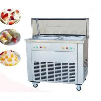 Buy cheap Double Fat Pan Fried Ice Cream Roll Machine from wholesalers