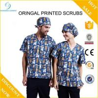 Buy cheap Best quality hospital uniform printed medical scrub wholesale from wholesalers